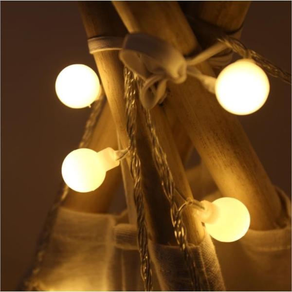 ストリングライト 屋外 USB LEDイルミネーションライト ボール 飾り 屋内 祝日 パーティー装飾 10M80灯 オーナメント USB式 クリスマス 結婚式 年会 誕生会|yu-tyann|04