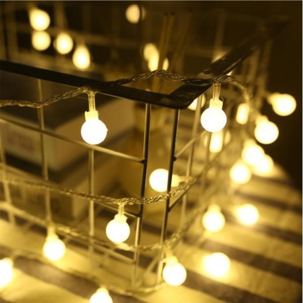 ストリングライト 屋外 USB LEDイルミネーションライト ボール 飾り 屋内 祝日 パーティー装飾 10M80灯 オーナメント USB式 クリスマス 結婚式 年会 誕生会|yu-tyann|05