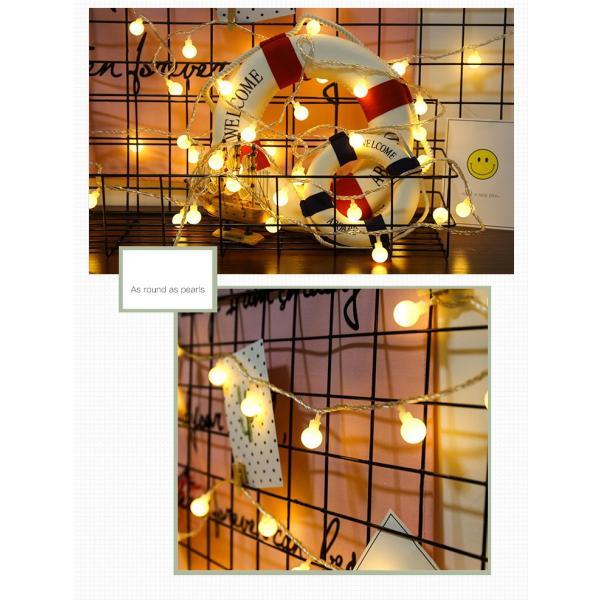 ストリングライト 屋外 USB LEDイルミネーションライト ボール 飾り 屋内 祝日 パーティー装飾 10M80灯 オーナメント USB式 クリスマス 結婚式 年会 誕生会|yu-tyann|08