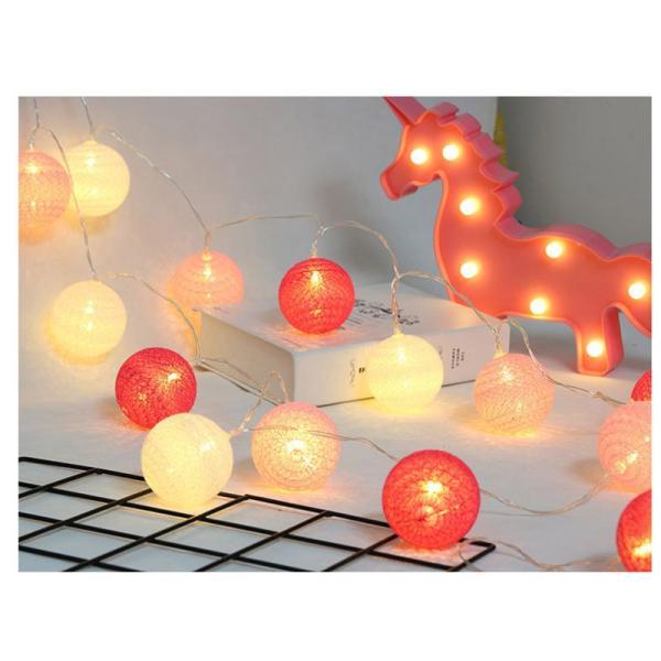 ストリングライト 綿 ボール LEDライト イルミネーションライト 年会 飾り 3m20灯 屋内 ロマンチック パーティー装飾 乾電池式 クリスマス 屋外 結婚式 誕生日|yu-tyann|04