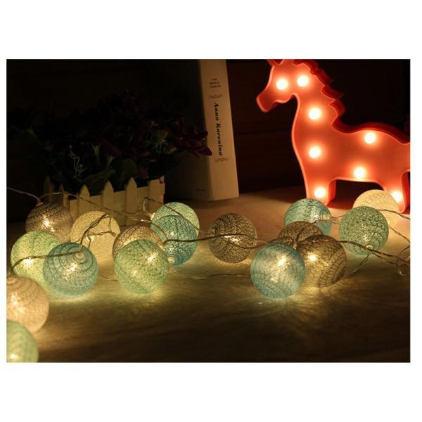 ストリングライト 綿 ボール LEDライト イルミネーションライト 年会 飾り 3m20灯 屋内 ロマンチック パーティー装飾 乾電池式 クリスマス 屋外 結婚式 誕生日|yu-tyann|07