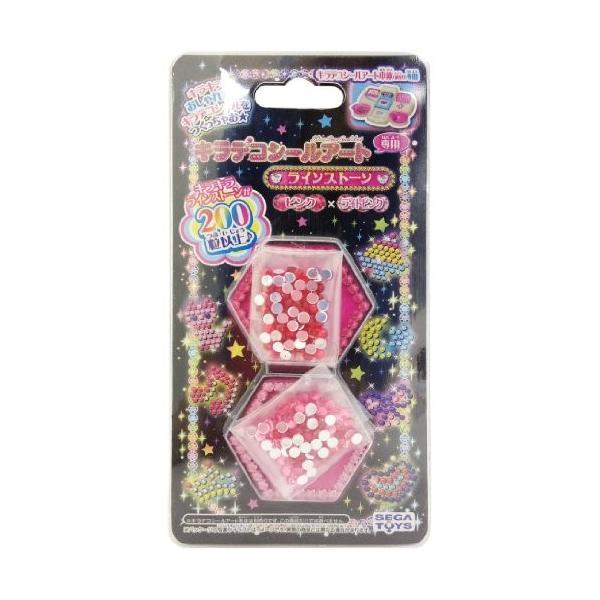 キラデコシールアート DP-03 キラデコシールアート 別売りラインストーン ピンク&ライトピンク