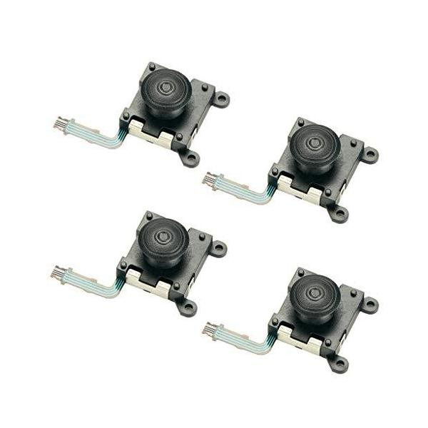PSVitaPSV2000交換用アクセサリー4ピース交換左右3Dアナログコントロールジョイスティックボタンスーツ