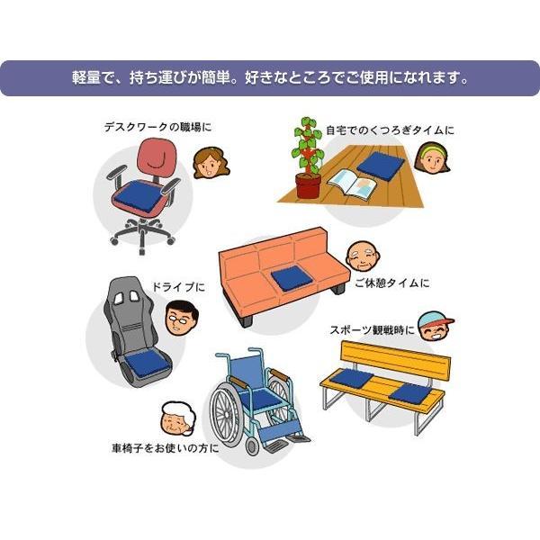 車椅子クッション 日本ジェル ピタ・シートクッション70 PT003 厚み7cm【車椅子と同時購入専用ページ】 yua-shop 06