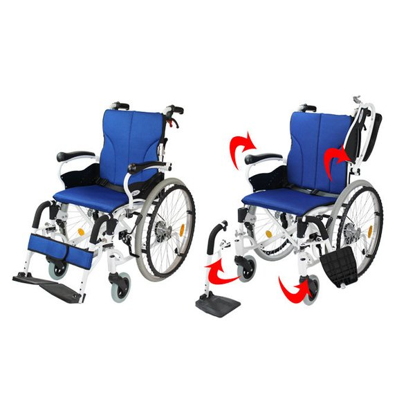 車椅子 折りたたみ 自走 ケアテックジャパン コンフォート CAH-50SU 多機能 シート交換可能|yua-shop|06