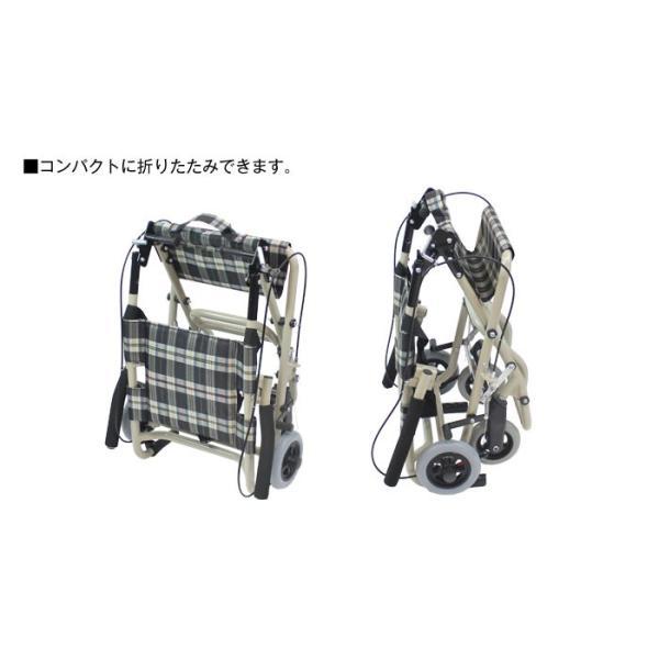 車椅子 軽量 折りたたみ ケアテックジャパン トラベルミニ CA-40 車いす 車イス 介助用 メーカー保証1年付|yua-shop|04