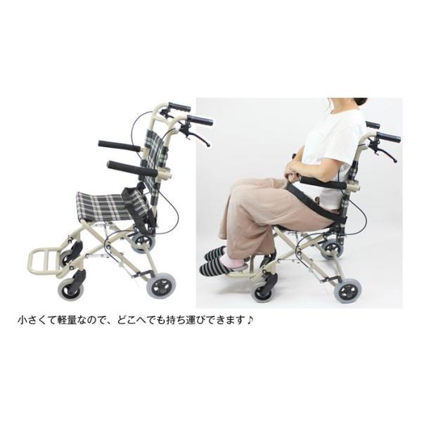 車椅子 軽量 折りたたみ ケアテックジャパン トラベルミニ CA-40 車いす 車イス 介助用 メーカー保証1年付|yua-shop|06