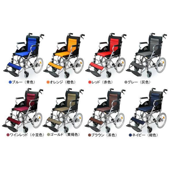 車椅子 軽量 折りたたみ コンパクト ケアテックジャパン ハピネスライト-介助式- CA-22SU【お得なシート2枚セット】|yua-shop|03