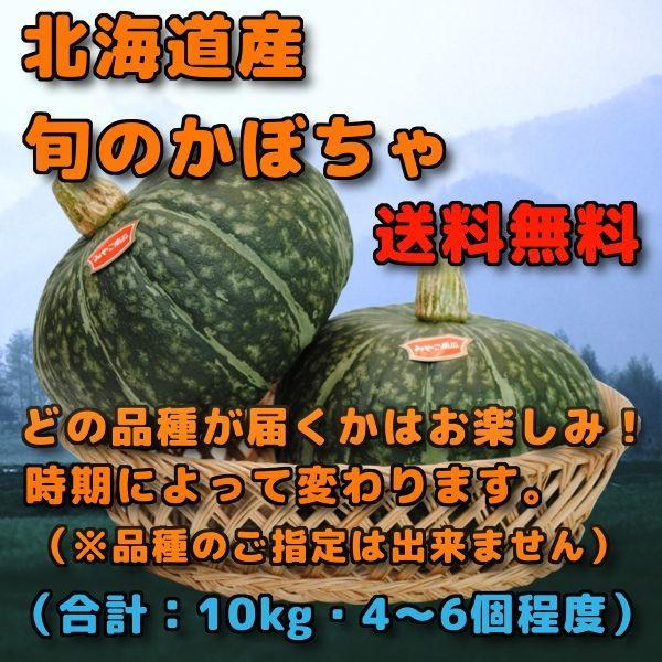 北海道産 かぼちゃ 南瓜 カボチャ 10kg 前後 4個から6個 程度 みやこ えびす ほっこり 雪化粧 味平 のいずれか1品種 ※品種の指定は不可 お取り寄せグルメ