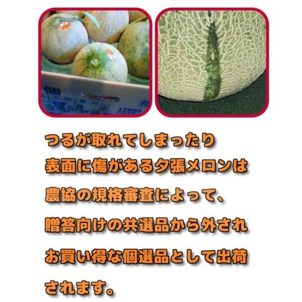 夕張メロン 訳あり 1.3から1.6kg前後(1玉) 個選品 わけあり グルメ 赤肉メロン 北海道|yubari-shouten|13