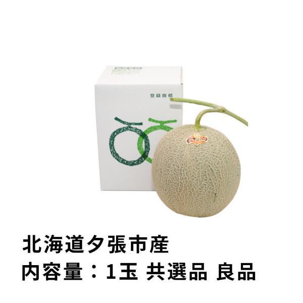 お中元 贈答品 夕張メロン 夕張市農協 共選品 良品 1玉 1.3から1.6kg前後 赤肉メロン|yubari-shouten