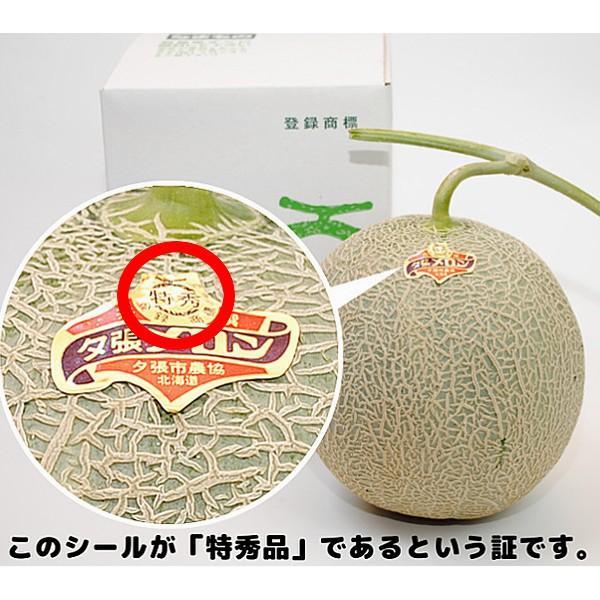 贈答品 ギフト 夕張メロン 夕張市農協 共選品 特秀品 1玉 1.3から1.6kg前後|yubari-shouten|08