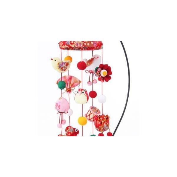 ひなまつり 京ちりめん 傘宝つるし飾り(赤) [LH-130] 手作りキット (メール便可/取り寄せ商品)|yucasiho|02