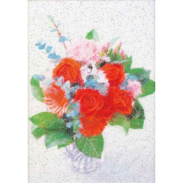 ブーケ(MA-8)〜糸の貼り絵〜メタリックアート パナミ手作りキット (メール便可/取り寄せ商品)|yucasiho