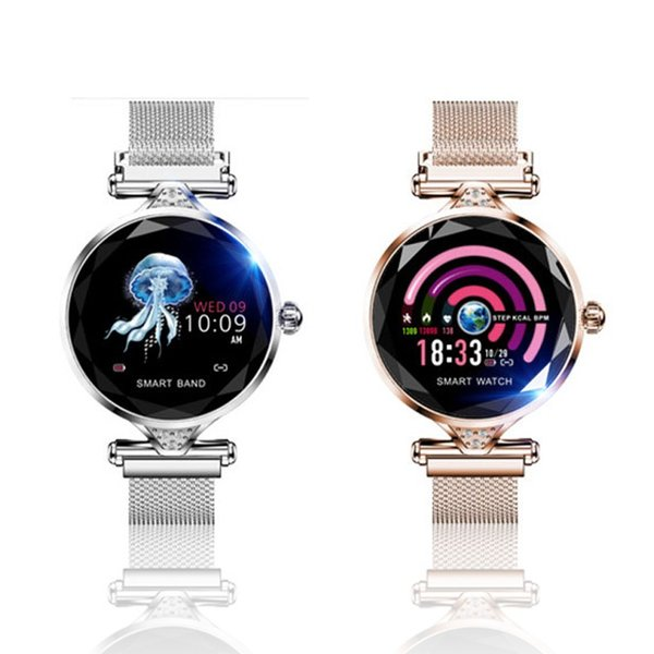 スマートウォッチ レディース iphone android 対応 防水 血圧 心拍数 測定 LINE対応 生理周期管理 着信通知 睡眠|yuehua-shop|14