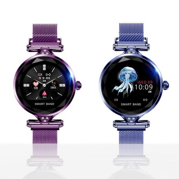 スマートウォッチ レディース iphone android 対応 防水 血圧 心拍数 測定 LINE対応 生理周期管理 着信通知 睡眠|yuehua-shop|15