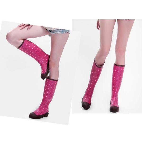レインブーツ レディース 女性用 雨具 レインシューズ ロング丈 長靴 プリントレイン靴 雨靴 優品 セール