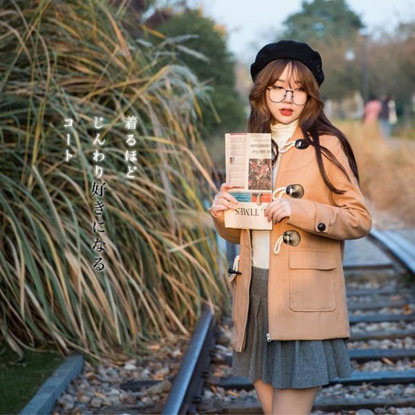 セール!森ガール ダッフルコート レディース 学生 ショート コート フード ダッフルコート 大きいサイズ アウター 通勤 女子 女性|yuhin|02