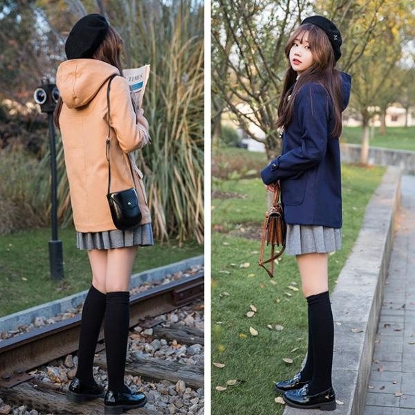 セール!森ガール ダッフルコート レディース 学生 ショート コート フード ダッフルコート 大きいサイズ アウター 通勤 女子 女性|yuhin|05