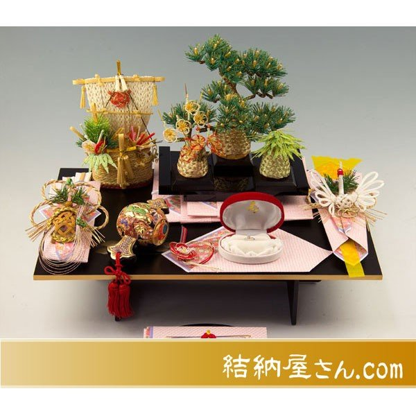 結納-コンパクト結納品- 宝づくしセット(毛せん付)