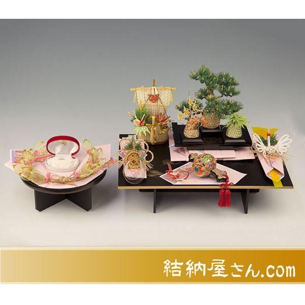 結納-コンパクト結納品- 宝づくしアレンジセット3(毛せん・指輪飾り台付)