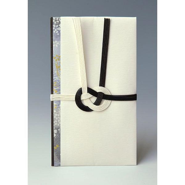 金包(不祝儀袋・香典袋(仏式用))〜3万円に最適 HH107(黒白 白檀紙(柄入り):直書き)