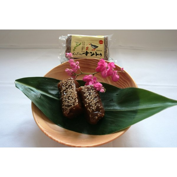 くんじゃんナントゥ お餅なのにプルプル新食感!手作り黒糖風味の沖縄のお餅|yuiyui-k