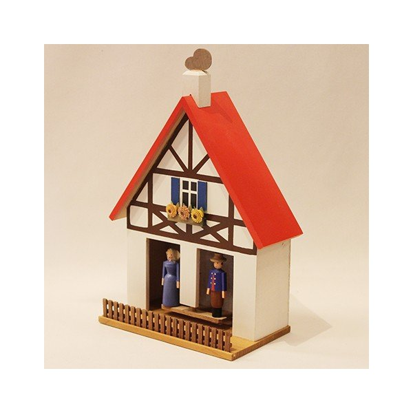 お天気ハウス ウェザーハウス ドイツ エルツ地方の工芸品 Erzgebirgs Wetterhaus 木の家 109/11|yukainasakana|02