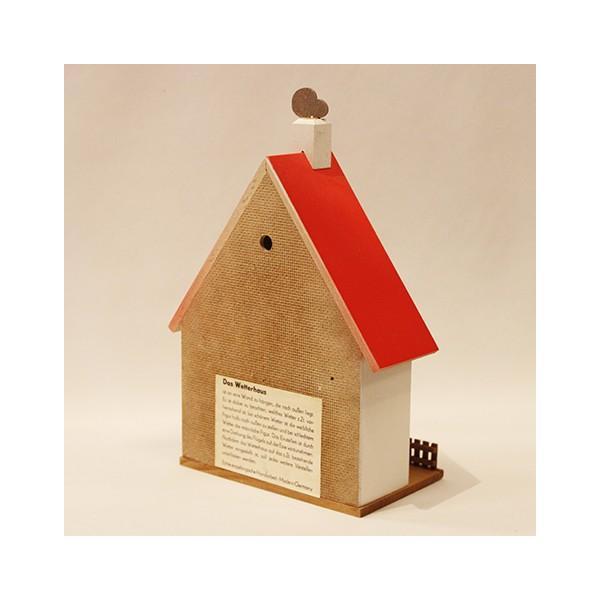 お天気ハウス ウェザーハウス ドイツ エルツ地方の工芸品 Erzgebirgs Wetterhaus 木の家 109/11|yukainasakana|03