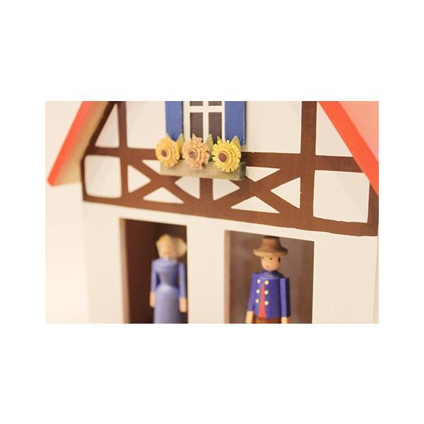 お天気ハウス ウェザーハウス ドイツ エルツ地方の工芸品 Erzgebirgs Wetterhaus 木の家 109/11|yukainasakana|04