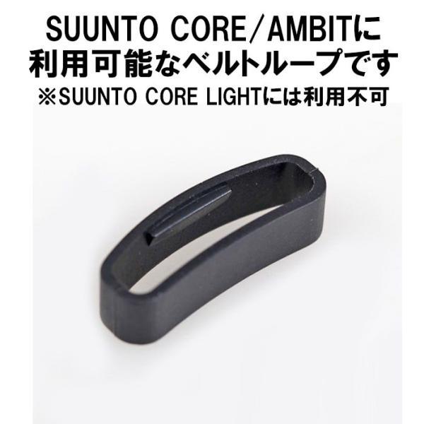 SUUNTO スント CORE コア用 ベルトループ 遊革 ベルト通し わっか シリコン ラバー 輪っか ゆうかん 互換品 2個セット 定形内