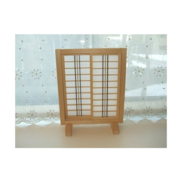 ミニ建具 和風障子戸【6】 日本製/和風/木製/無塗装/完成品|yukatama