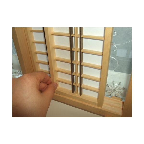 ミニ建具 和風障子戸【6】 日本製/和風/木製/無塗装/完成品|yukatama|02