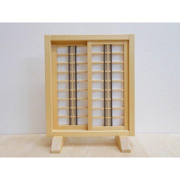 ミニ建具 和風障子戸【6】 日本製/和風/木製/無塗装/完成品|yukatama|04