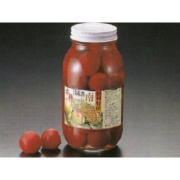 赤梅 甘露煮 M 瓶入(約25〜32入 固形量:約500g 瓶込:約1.45kg 国産 南高梅 赤色 赤 梅) [常温]
