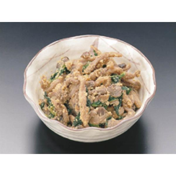 きのこピーナッツ和え 1kg 業務用惣菜  (きのこ ひら茸 春菊 和え物 あえもの) [冷凍]