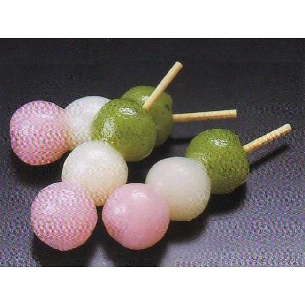 三色プチ団子 15入 (約1.8×2×7cm 約15g/ヶ 花見 串 だんご ダンゴ 3色 和菓子 梱包込重量:約250g) [冷凍]