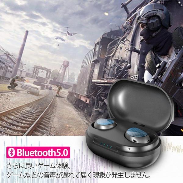 ワイヤレス イヤホン bluetooth 5.0 iphone Android アンドロイド 対応 自動ペアリング 防水 タッチ型 超小型 完全ワイヤレス 片耳 両耳 日本語説明書対応|yukiko121|06