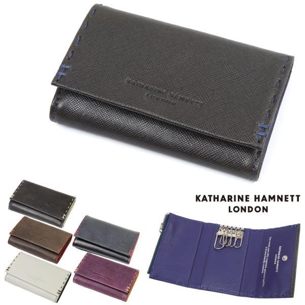 キャサリンハムネット キーケース メンズ 本革 Colortailored(カラーテーラード) 小銭入れあり パスケース付き KATHARINE HAMNETT yukio-labo