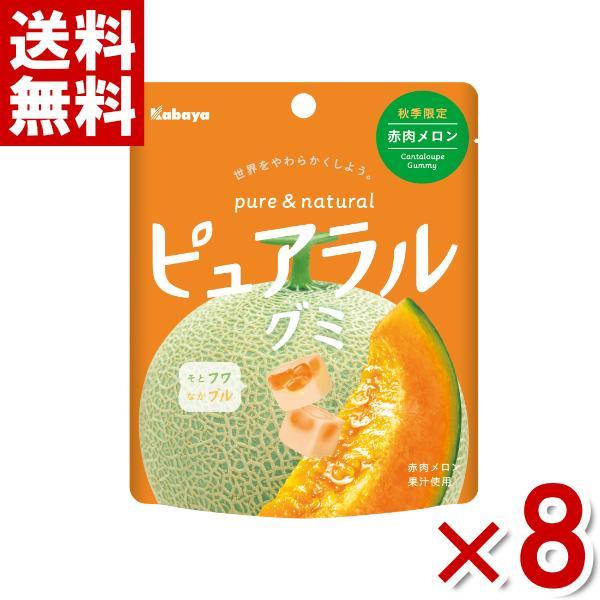 カバヤ ピュアラルグミ 赤肉メロン 8入 (ポイント消化) (np) メール便全国送料無料