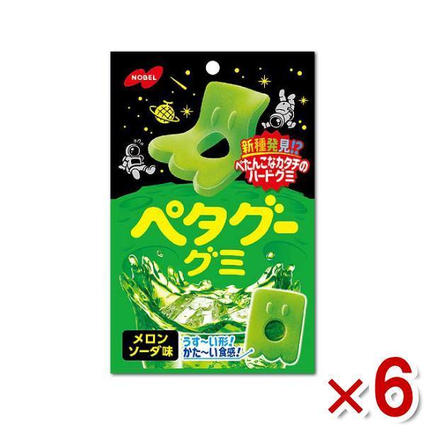 ノーベル ペタグーグミ メロンソーダ 6入 (ポイント消化) (np) メール便全国送料無料