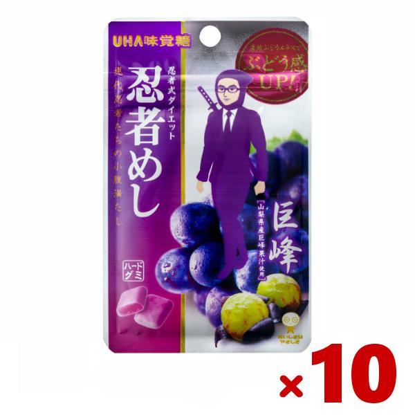 味覚糖 忍者めし 巨峰味 10入 (ポイント消化) (np)(あすつく対応)  メール便全国送料無料
