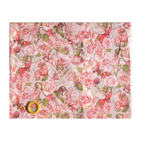 USAコットン 花の妖精 ピンクの薔薇