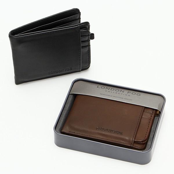メンズ財布 人気ブランド LONDON FOG ロンドンフォグ  着脱式 パスケース付き 2つ折り財布 USA直輸入モデル メンズ ギフト XX-WA30002AQ 送料無料 yukyuno-tabibito
