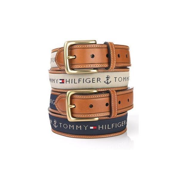 メンズベルト 人気ブランド トミーヒルフィガー TOMMY HILFIGER ブラウン色 本革 ロゴ カジュアルベルト 38mm USA直輸入モデル トラッド メンズギフト 送料無料|yukyuno-tabibito