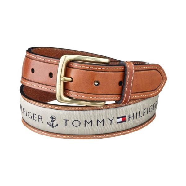 メンズベルト 人気ブランド トミーヒルフィガー TOMMY HILFIGER ブラウン色 本革 ロゴ カジュアルベルト 38mm USA直輸入モデル トラッド メンズギフト 送料無料|yukyuno-tabibito|02