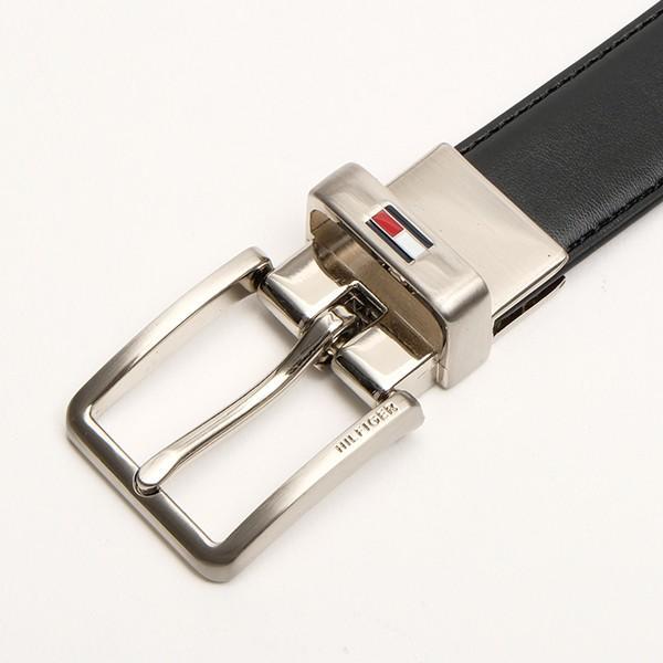学生ベルト 子供ベルト トミーヒルフィガーTOMMY HILFIGER リバーシブルベルト ブラック 24mm USA直輸入 ボーイ用サイズ 12TL01XZ03 送料無料|yukyuno-tabibito|02