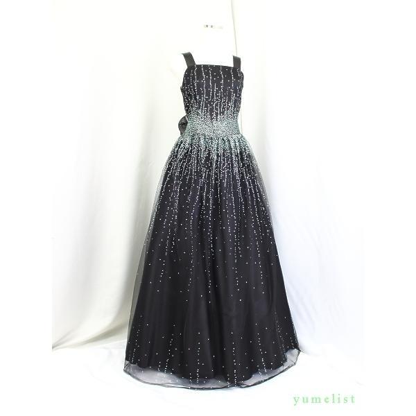 ゆめりすと ミルキーウェイ・コンフォート ブラック 145:高級子供ロングドレス