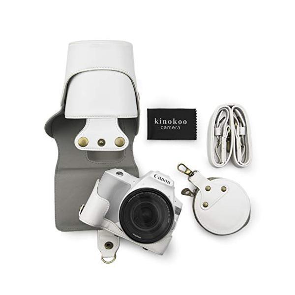 kinokooCanonEOSKISSX9/EOSKISSX10専用カメラケースカメラバッグ18-55mmレンズ対応