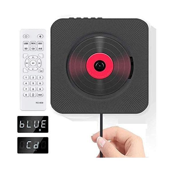 cdプレーヤーcdbluetoothプレーヤーポータブル円型CDplayerBluetooth/FM/USB/TF/AUX五モ
